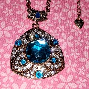 Large Betsey Johnson Crystal Necklace
